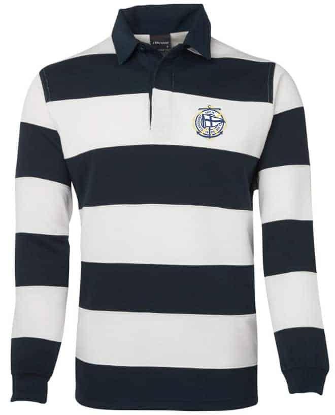 Claremont Yacht Club rugby jersey regalia