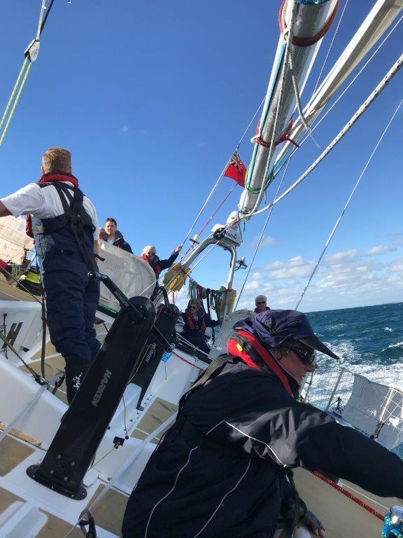 Claremont Yacht Club member sailing