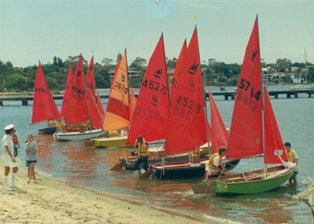 Archival picture of Claremont Yacht Club dingy event