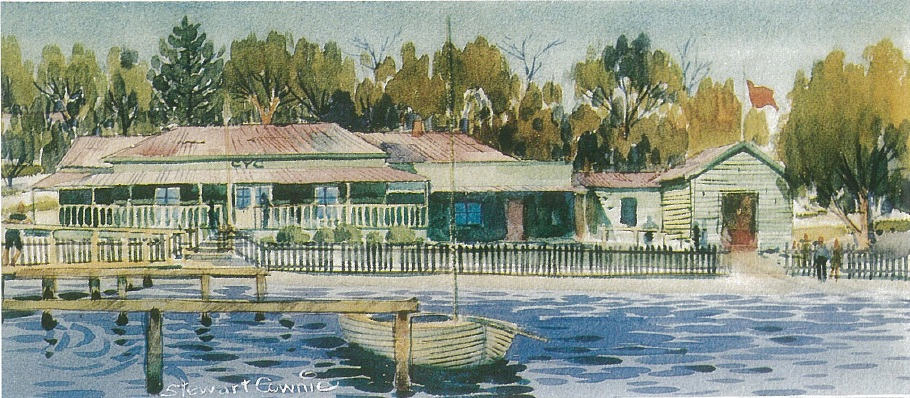 Painting of the first open day of Claremont Yacht Club